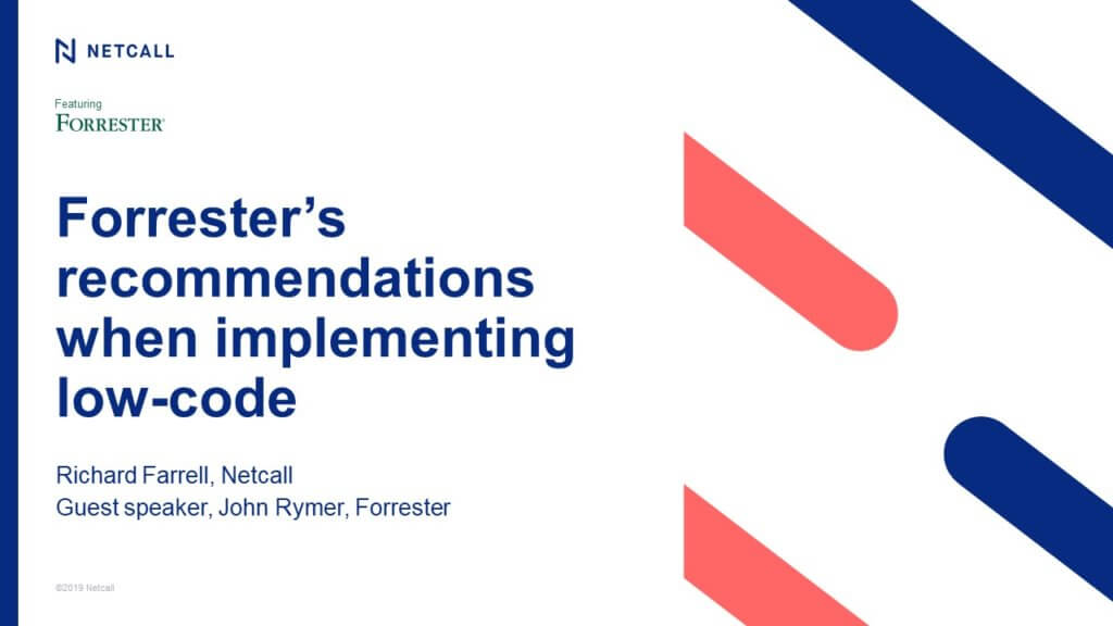Forrester's recommendations when implementing low-code