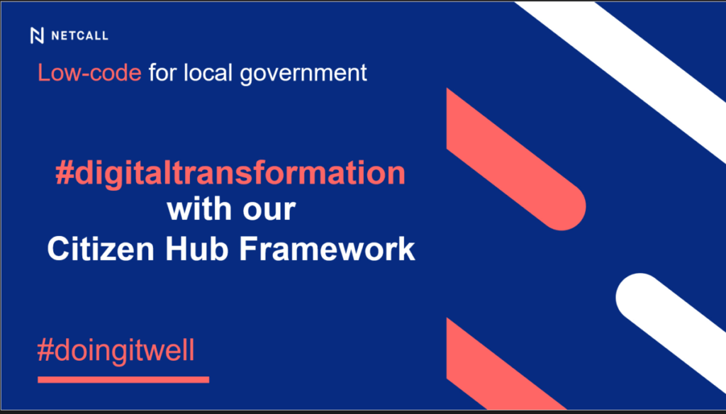 Low-code for local government #digitaltransformation with our Citizen Hub Framework #doingitwell