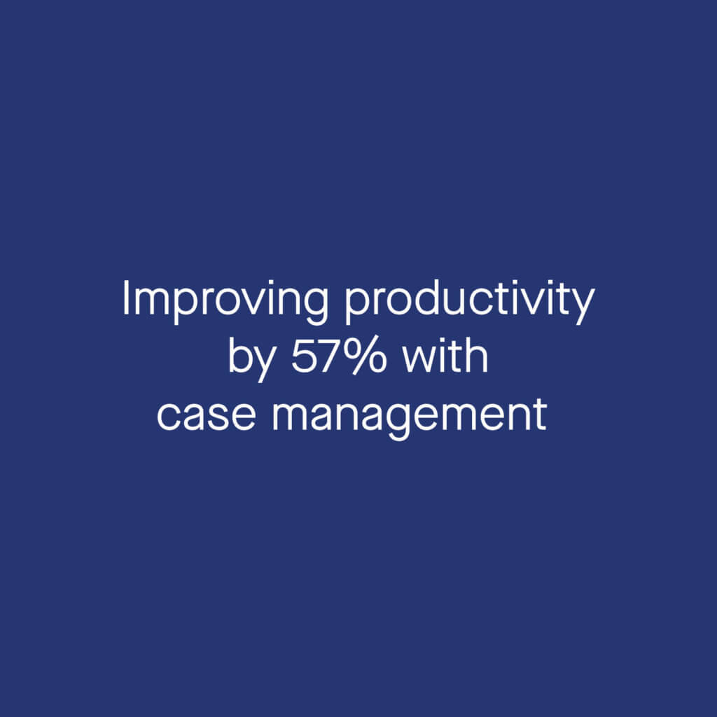improving productivity by 57% with case management
