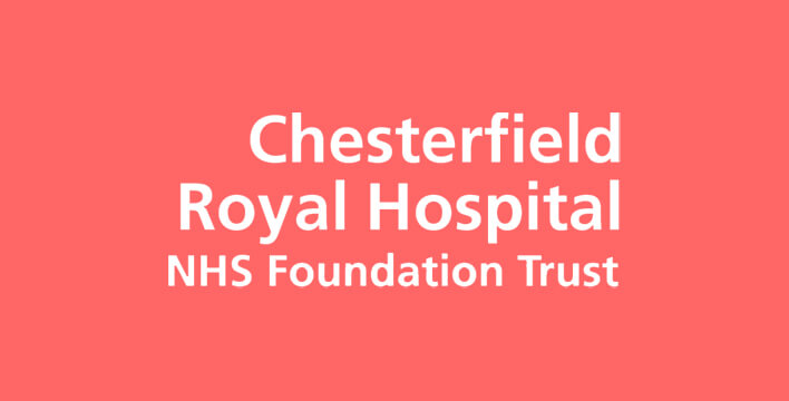 chesterfield royal hospital logo salmon background