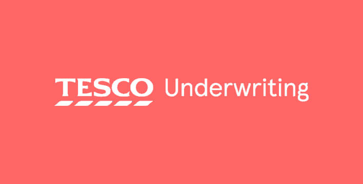 tesco underwriting logo salmon background